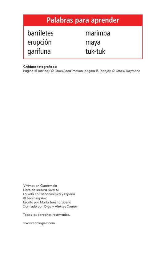 Book Preview For Vivimos en Guatemala Page 2