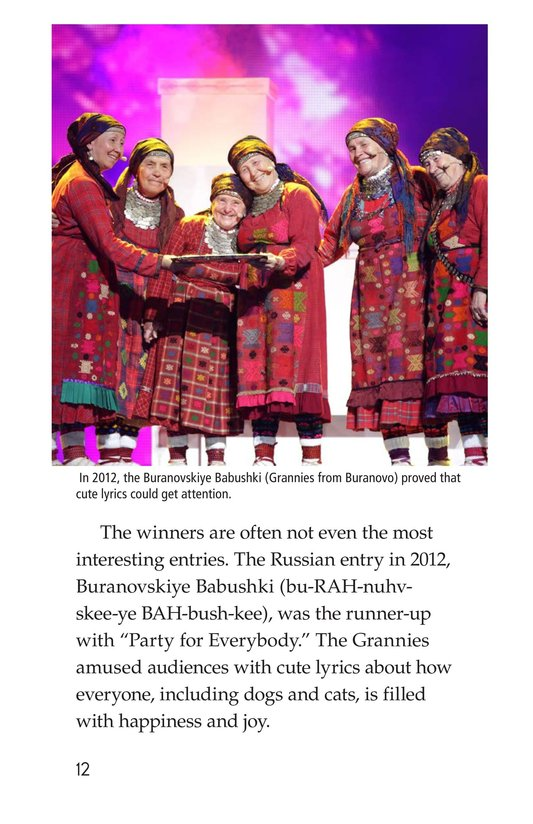 Book Preview For The Eurovision Song Contest! Page 12