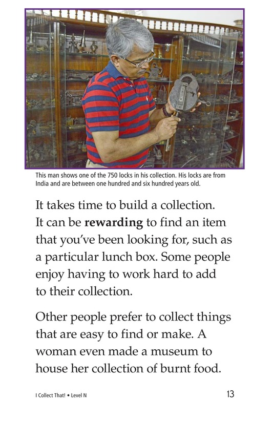 Book Preview For I Collect That! Page 13