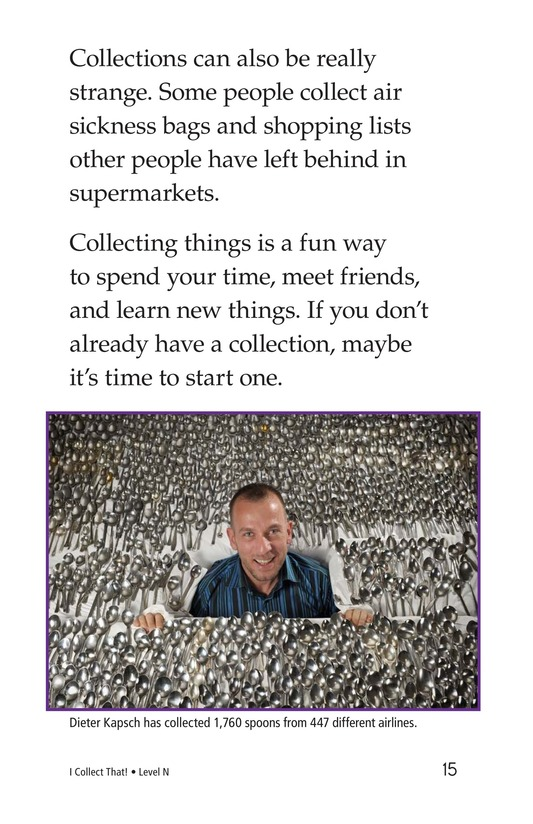 Book Preview For I Collect That! Page 15