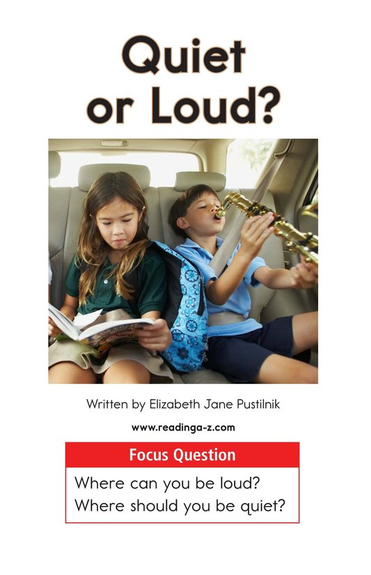 Book Preview For Quiet or Loud? Page 1