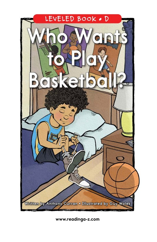 Book Preview For Who Wants to Play Basketball? Page 0