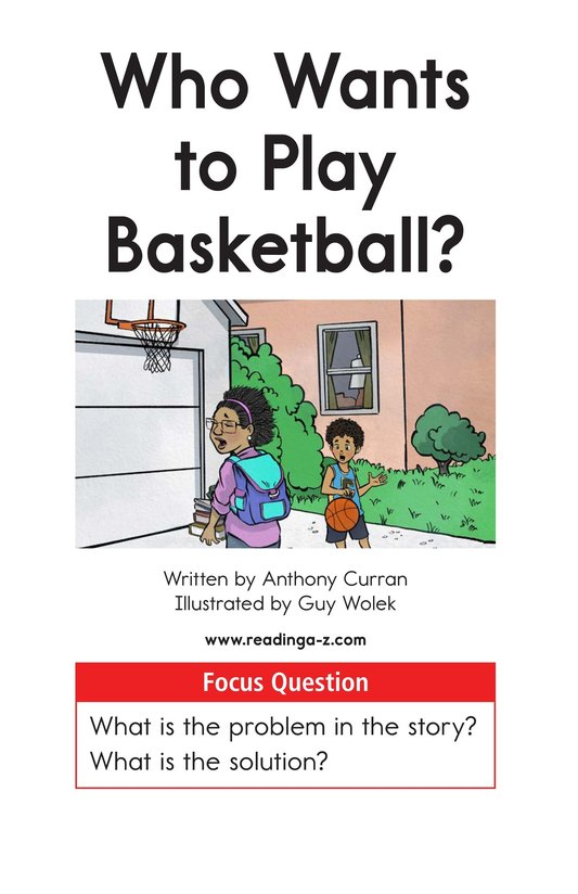 Book Preview For Who Wants to Play Basketball? Page 1