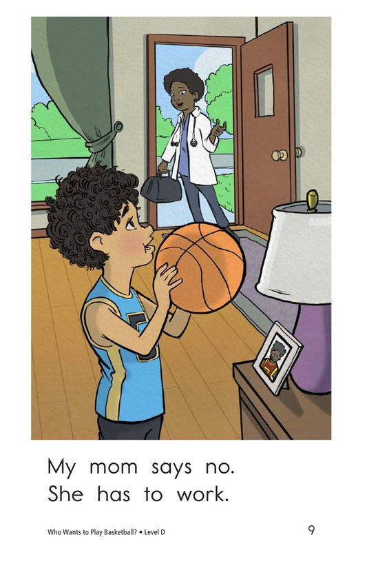 Book Preview For Who Wants to Play Basketball? Page 9