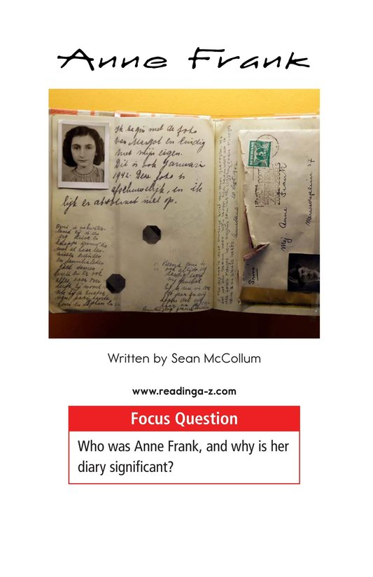 Book Preview For Anne Frank Page 1