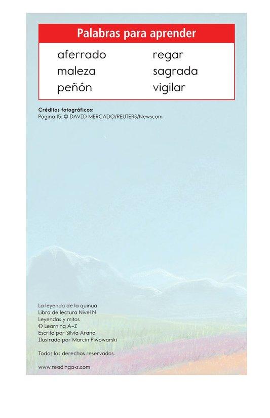 Book Preview For La leyenda de la quinua Page 2