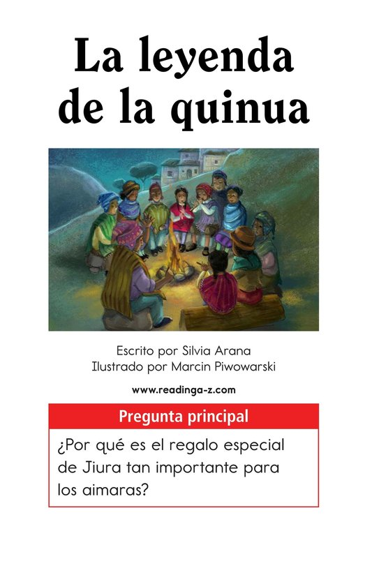 Book Preview For La leyenda de la quinua Page 1
