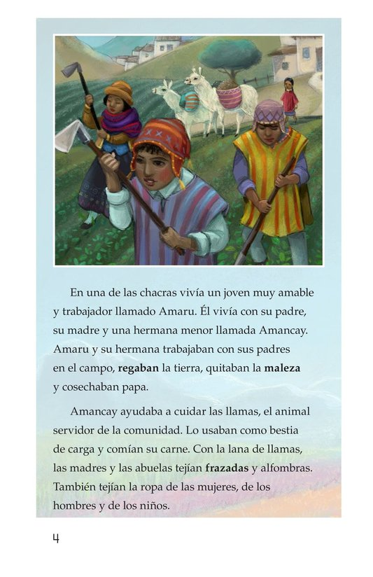 Book Preview For La leyenda de la quinua Page 4