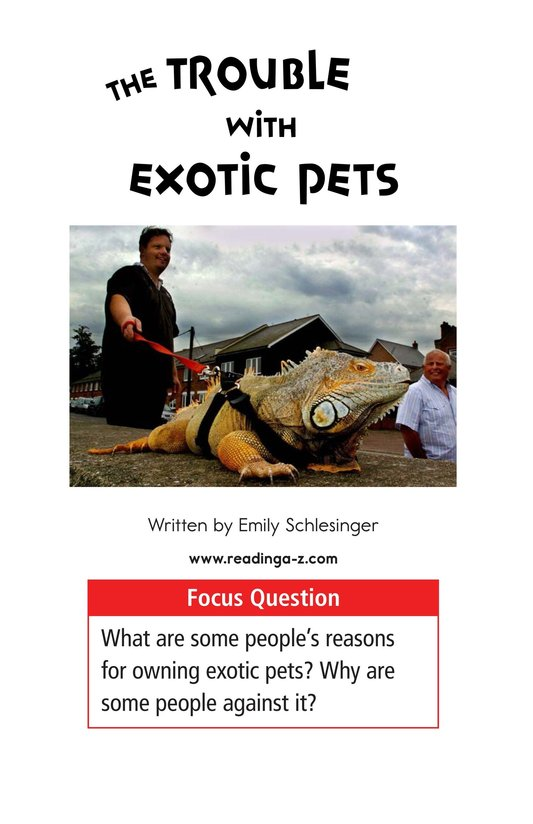 Book Preview For The Trouble with Exotic Pets Page 1