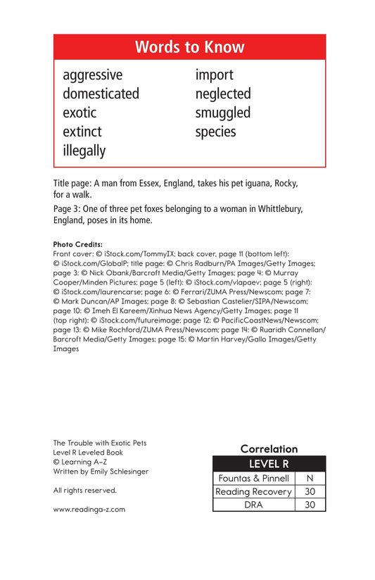 Book Preview For The Trouble with Exotic Pets Page 2