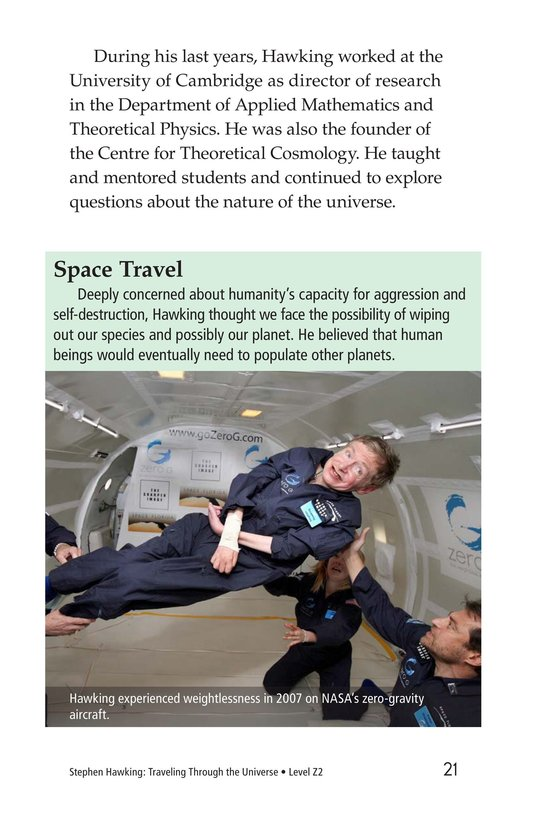 Book Preview For Stephen Hawking: Traveling Through the Universe Page 21