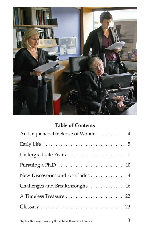 Book Preview For Stephen Hawking: Traveling Through the Universe Page 3