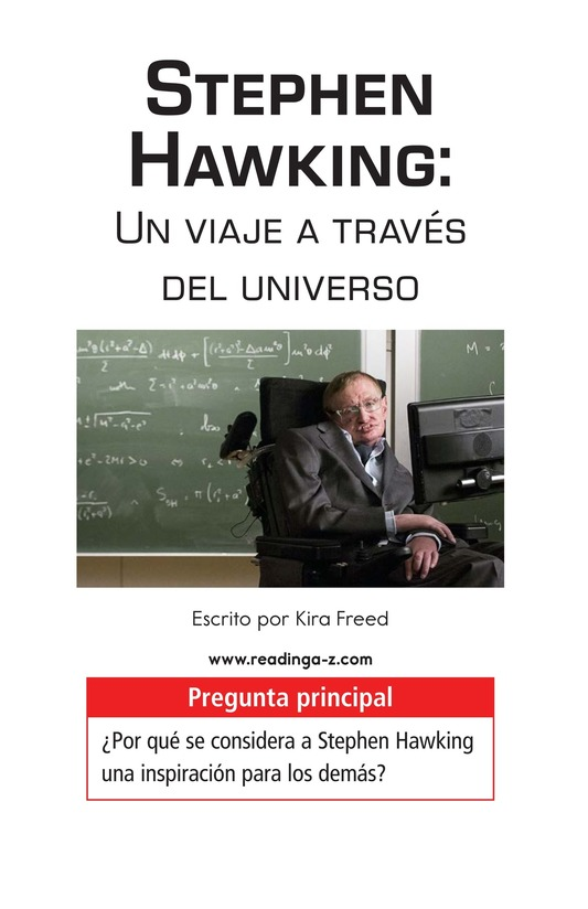 Book Preview For Stephen Hawking: Traveling Through the Universe Page 1