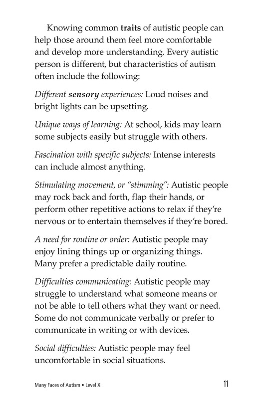 Book Preview For Many Faces of Autism Page 11