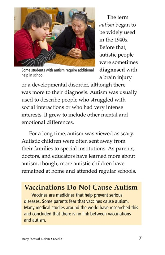Book Preview For Many Faces of Autism Page 7