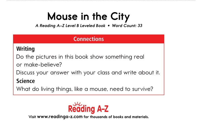 Book Preview For Mouse in the City Page 11