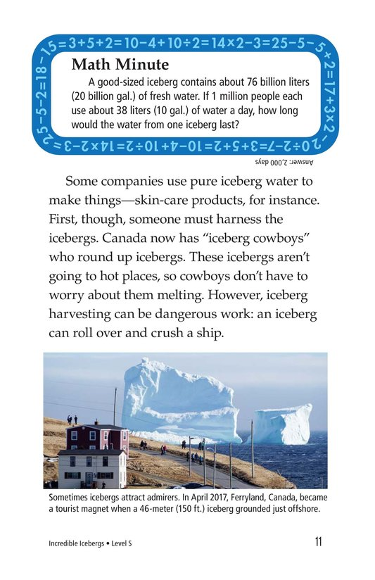 Book Preview For Incredible Icebergs Page 11