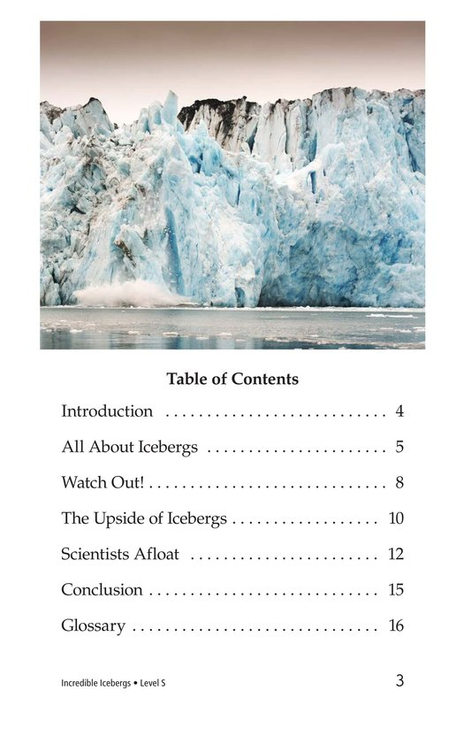 Book Preview For Incredible Icebergs Page 3