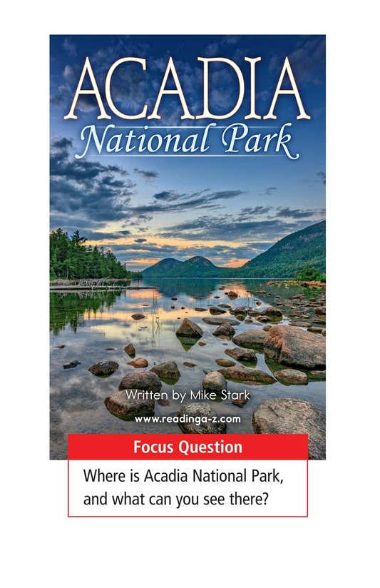 Book Preview For Acadia National Park Page 1