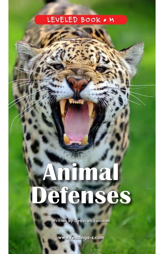 Book Preview For Animal Defenses Page 0