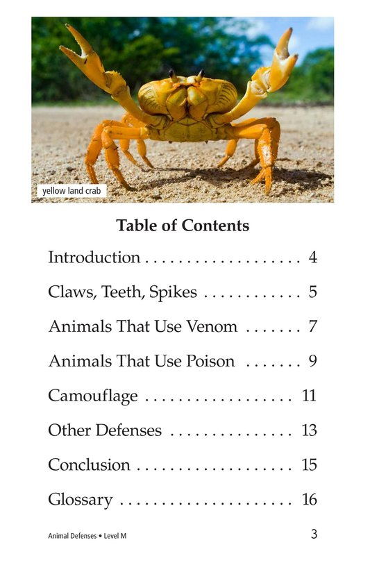 Book Preview For Animal Defenses Page 3