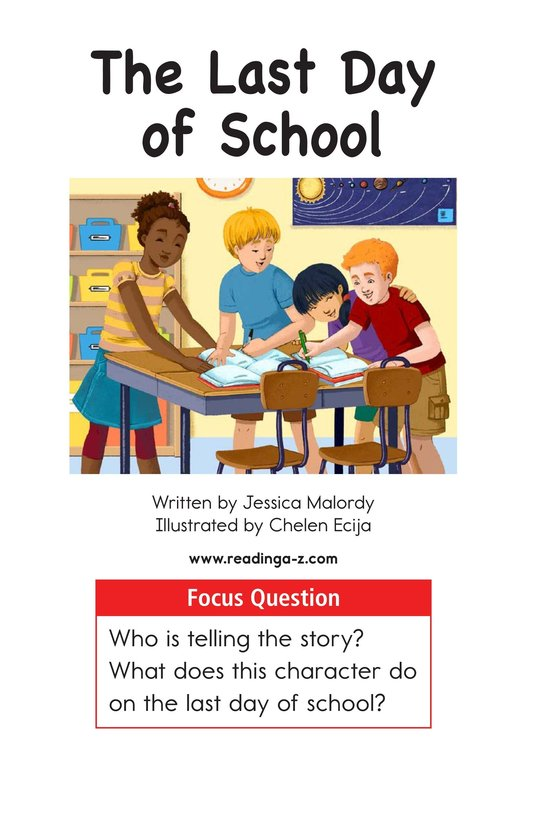 Book Preview For The Last Day of School Page 1