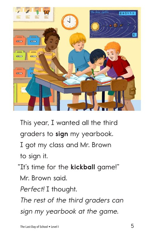 Book Preview For The Last Day of School Page 5