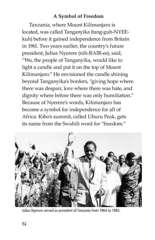 Book Preview For Mount Kilimanjaro Page 14