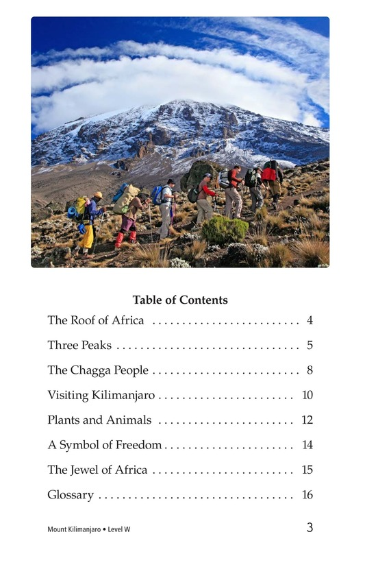 Book Preview For Mount Kilimanjaro Page 3