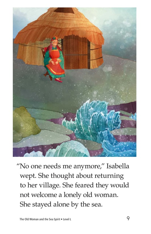 Book Preview For The Old Woman and the Sea Spirit Page 9