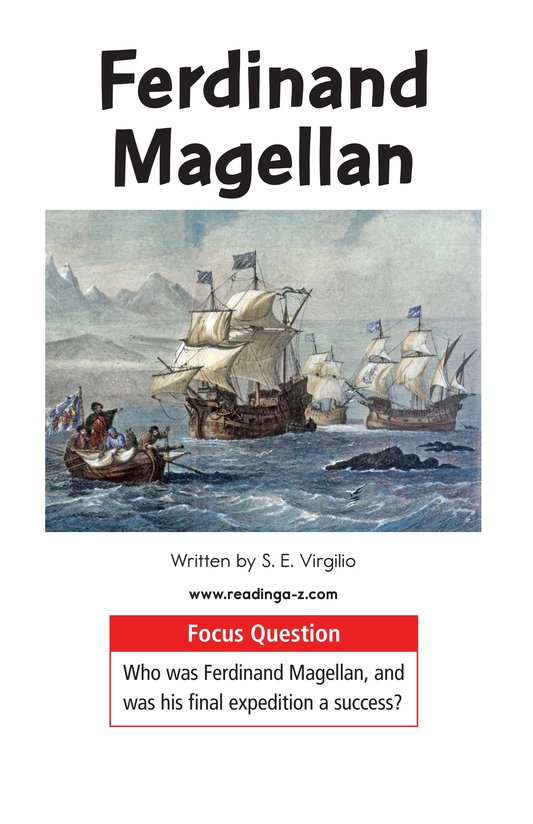 Book Preview For Ferdinand Magellan Page 1