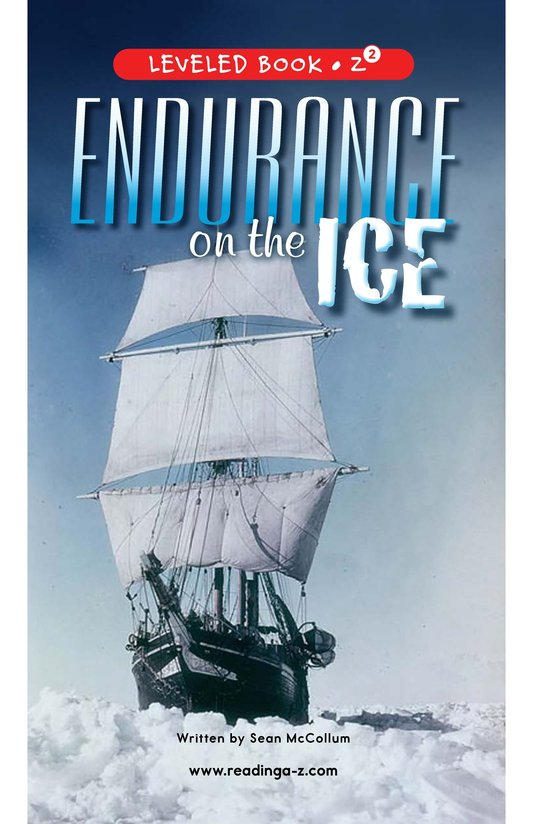 Book Preview For Endurance on the Ice Page 0