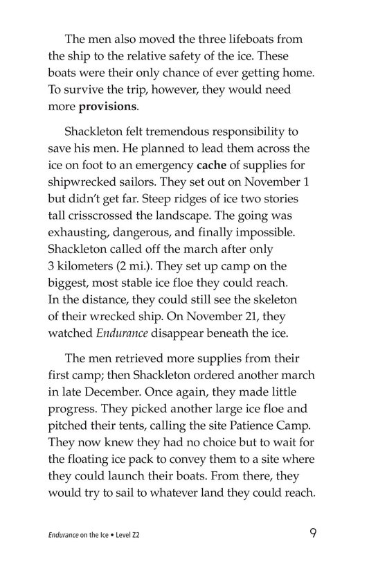 Book Preview For Endurance on the Ice Page 9