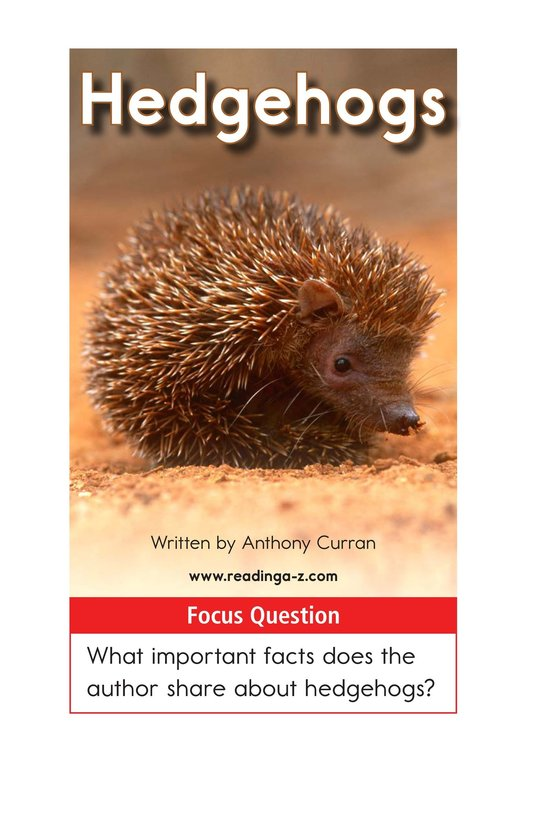 Book Preview For Hedgehogs Page 1