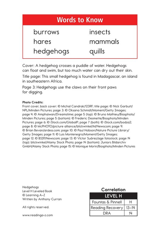 Book Preview For Hedgehogs Page 2