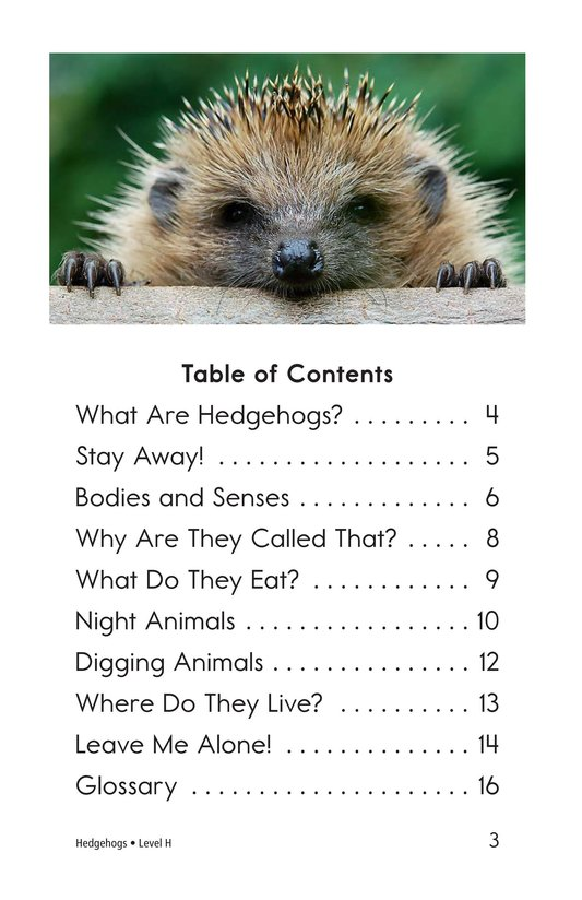 Book Preview For Hedgehogs Page 3