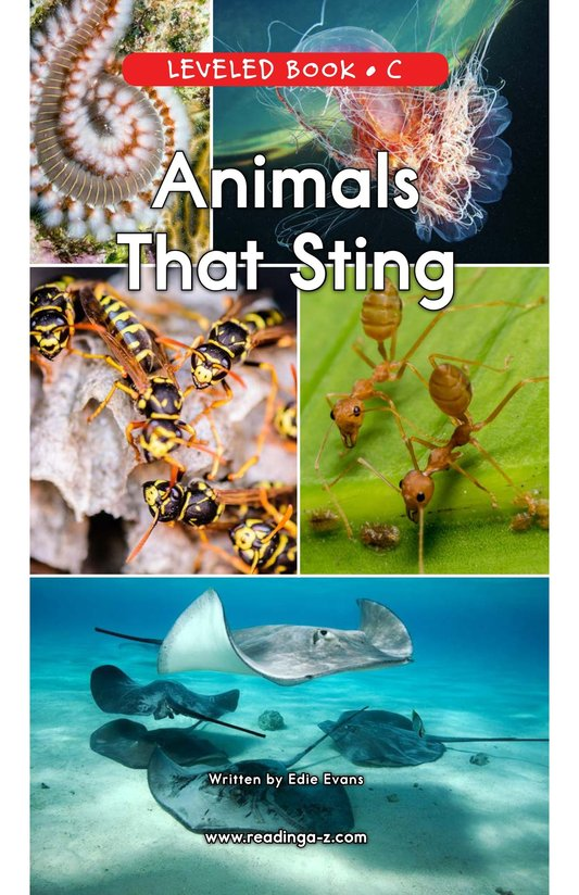 Book Preview For Animals That Sting Page 0