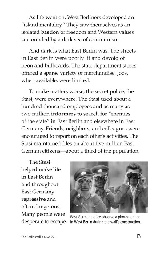 Book Preview For The Berlin Wall Page 13