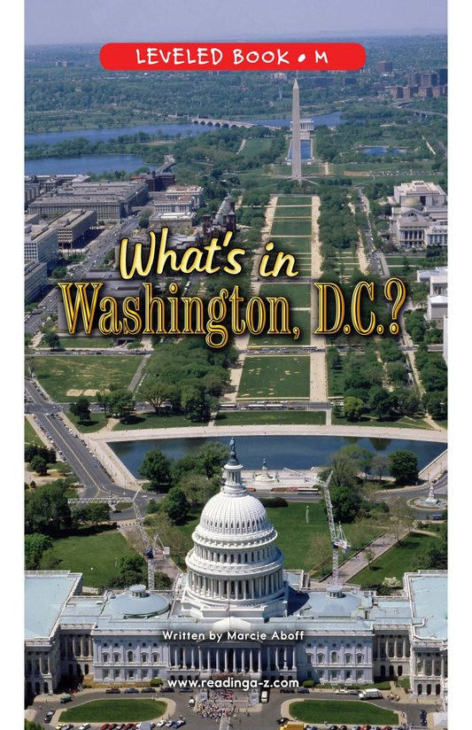 Book Preview For What's in Washington, D.C.? Page 0