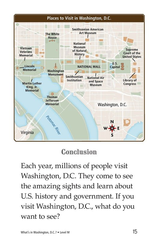 Book Preview For What's in Washington, D.C.? Page 15