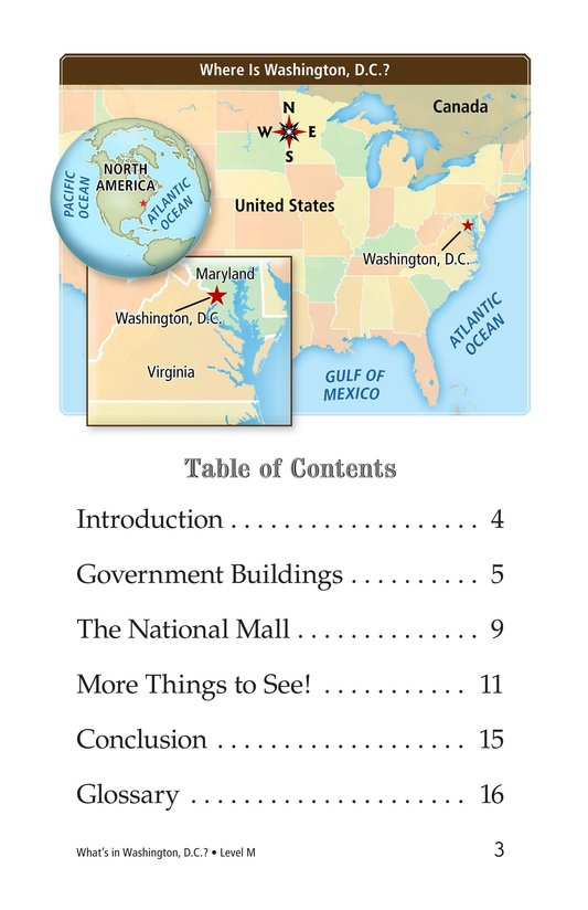Book Preview For What's in Washington, D.C.? Page 3