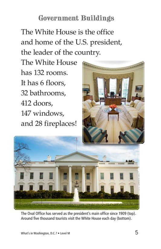 Book Preview For What's in Washington, D.C.? Page 5