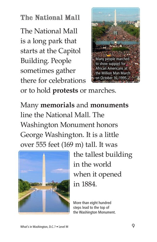 Book Preview For What's in Washington, D.C.? Page 9