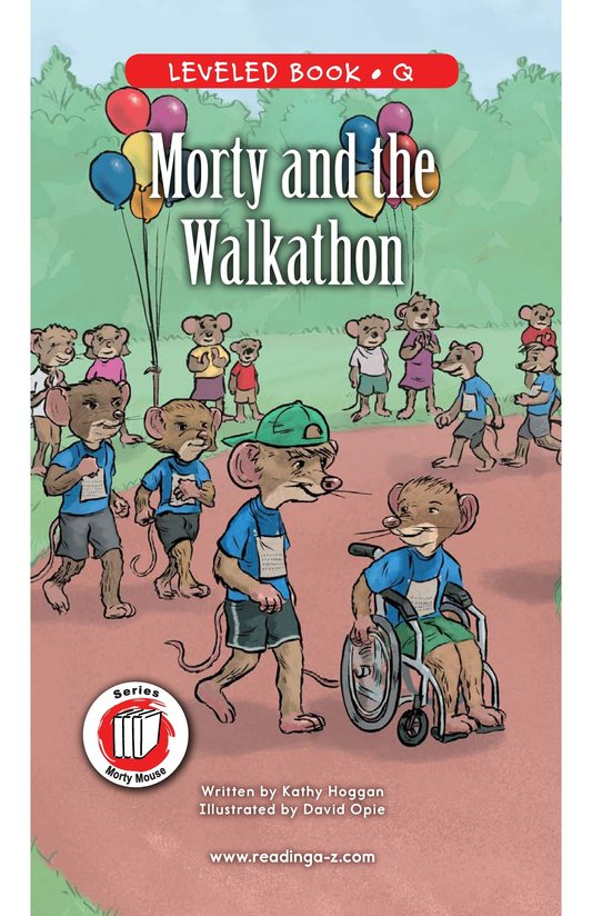 Book Preview For Morty and the Walkathon Page 0