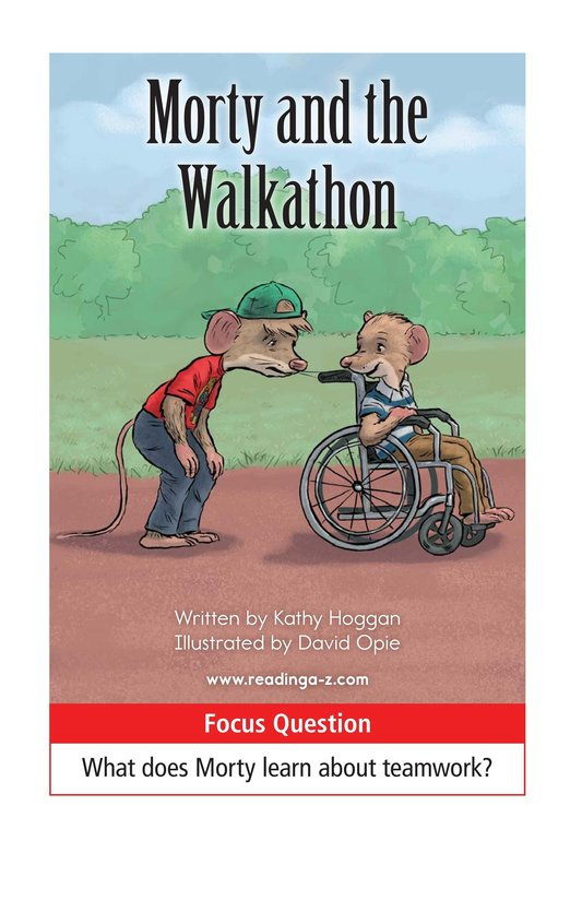 Book Preview For Morty and the Walkathon Page 1