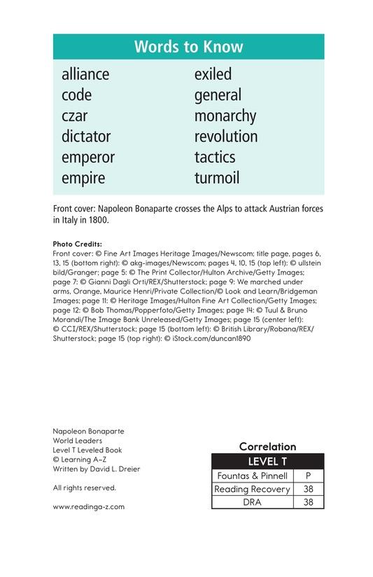 Book Preview For Napoleon Bonaparte Page 2