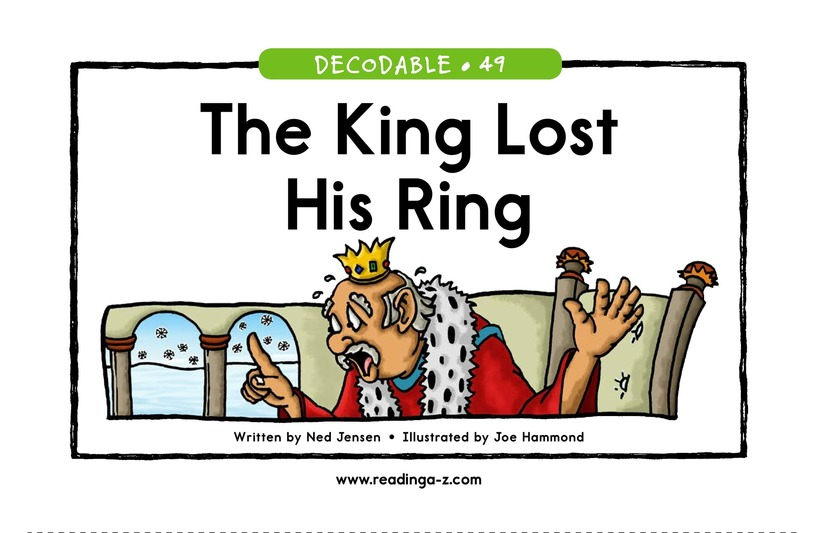 Book Preview For The King Lost His Ring Page 1