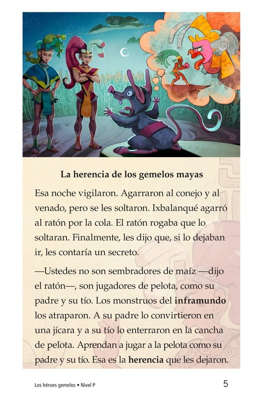 Book Preview For Los héroes gemelos Page 5