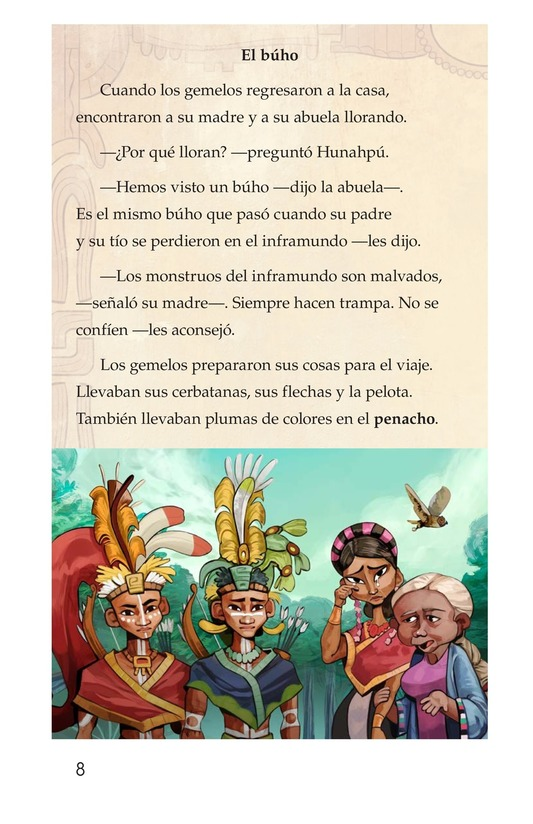 Book Preview For Los héroes gemelos Page 8