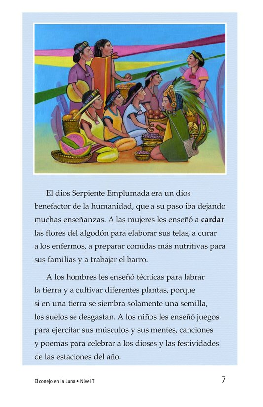 Book Preview For El conejo en la luna Page 7